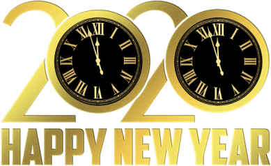 Happy New Year, New Year Clock