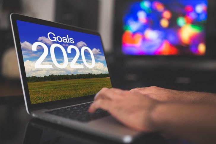 新年の日, ターゲット, 解像度, デジタル, 2020, ビジネス, 男, ノート パソコン, キーボード