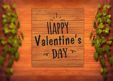 Happy Valentine'S Day, Text, Background