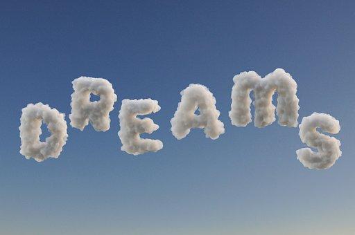 梦, 云, 睡眠, 文本, 幻想, 想象力, 放松, 魔术, 天空, 蓝色, 肿