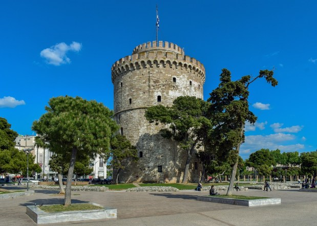 Greece, Thessaloniki, White Tower, Tower, Fortification