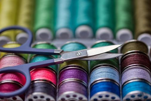 縫製キット, スレッド, はさみ, 裁縫道具, ミシン アクセサリー, カラフルです, 糸, 針仕事, 工芸品