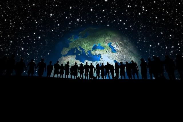 Humanos, Corrente Humana, Terra, Globo, Europa, Ásia