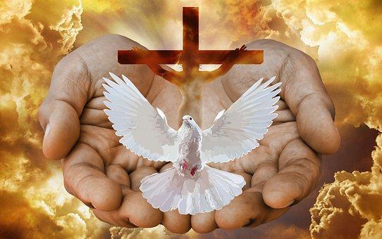 Dove, Cross, Hands, Fire, God, Trinity