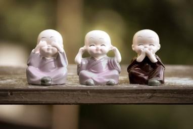 聞こえません, しゃべらないで,  瞑想,