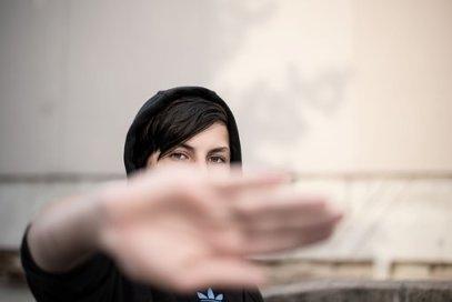 Teenager, Hoodie, Hand, No, Gesture
