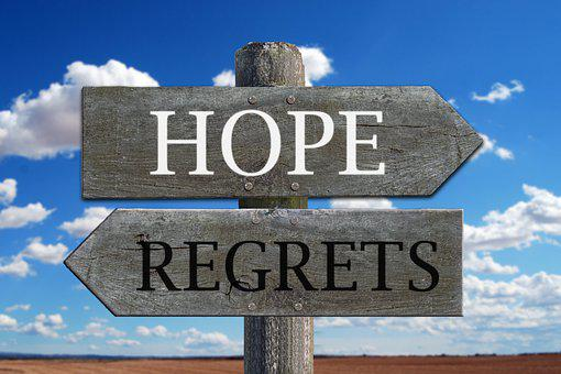 希望, 後悔, 未来, 過去, やる気を起こさせる, 引用符, モチベーション