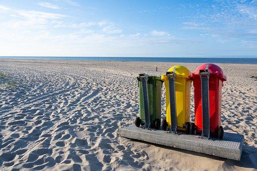 廃棄物の分別, ビーチ, ゴミ箱, 清潔さ, 廃棄物処理, 海, 環境を守ること