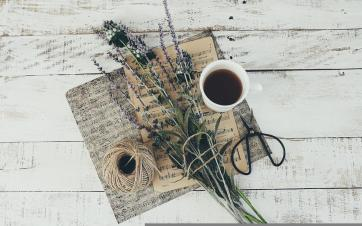 Flowers, Lavender, Teacup, Sheet Music, Table, White