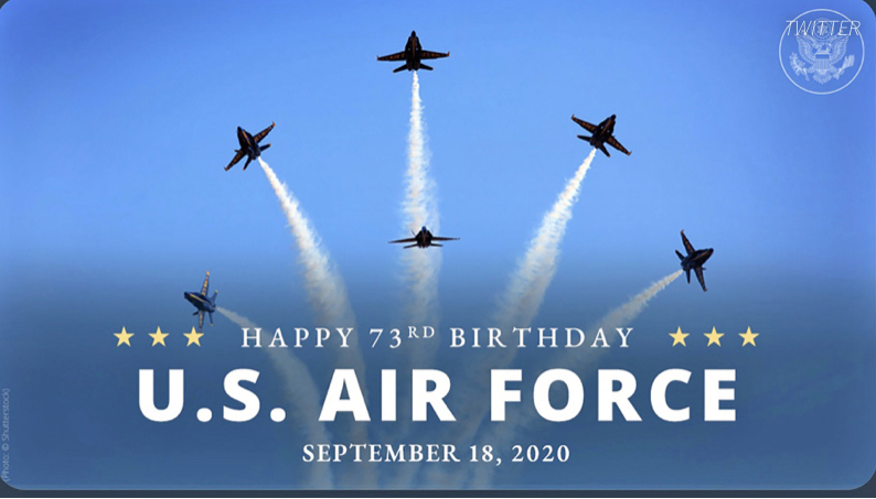 tweet of blue angels - State Department Wishes Air Force Happy Anniversary… With Image Of The WRONG Planes!