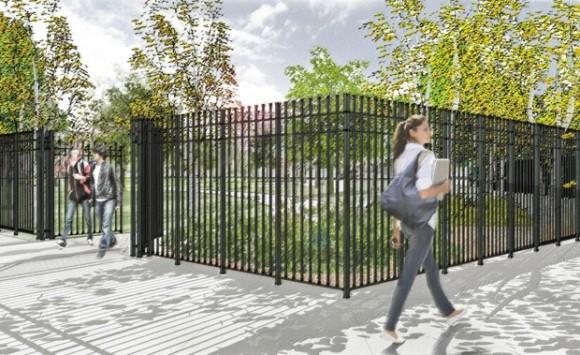 """Estado previo delos  Accesos, """"Parques sin Fronteras"""". © Departamento de Parques de Nueva York"""