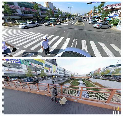 Suwon cheon, Suwon, Corea del Sur © Urb-i