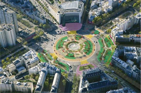 Plaza de Italia. Fuente: Ayuntamiento de París.