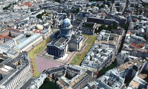Plaza del Panteón. Fuente: Ayuntamiento de París.