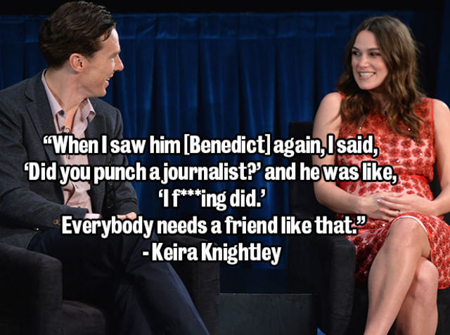 When he punched a journalist to defend Keira Knightley's honour