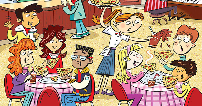 Can You Find The 6 Hidden Words At This Pizza Party