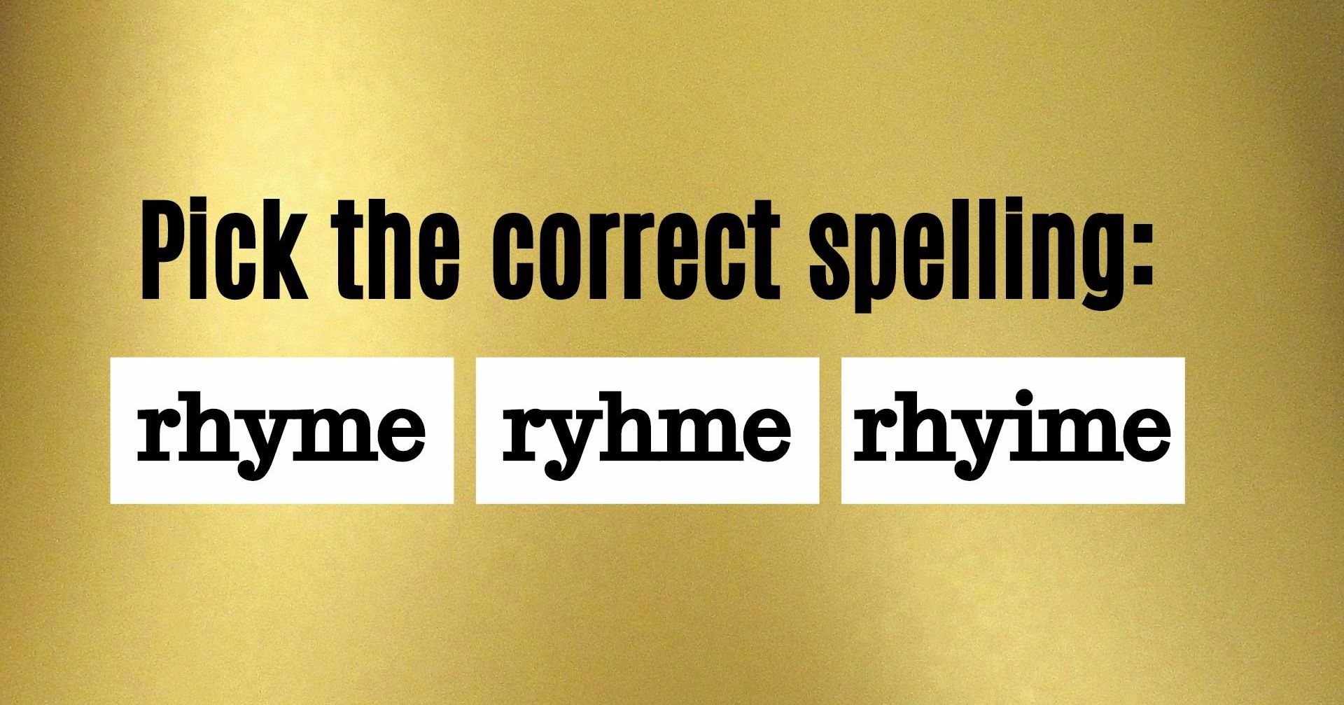 No One Can Pass This 5th Grade Basic Spelling Test