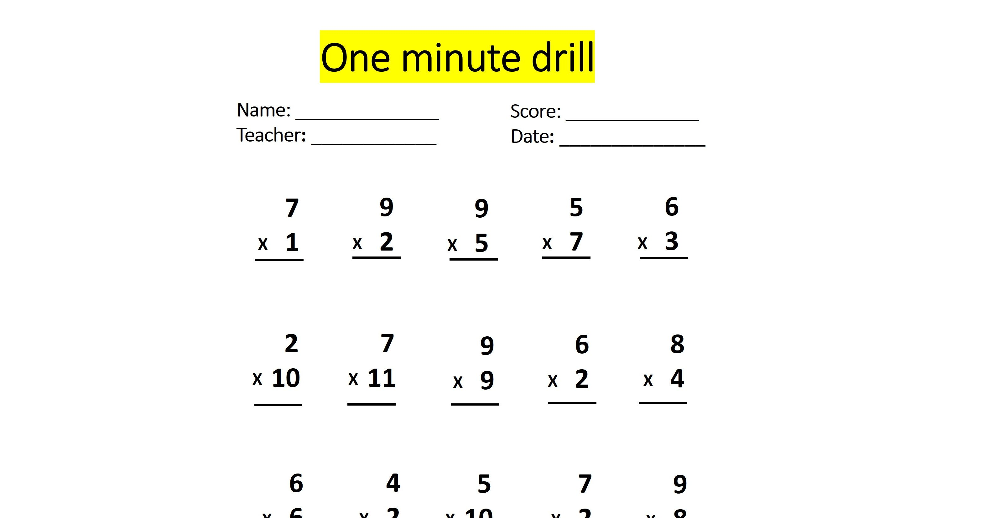 Can You Pass This One Minute Math Drill Without A Single