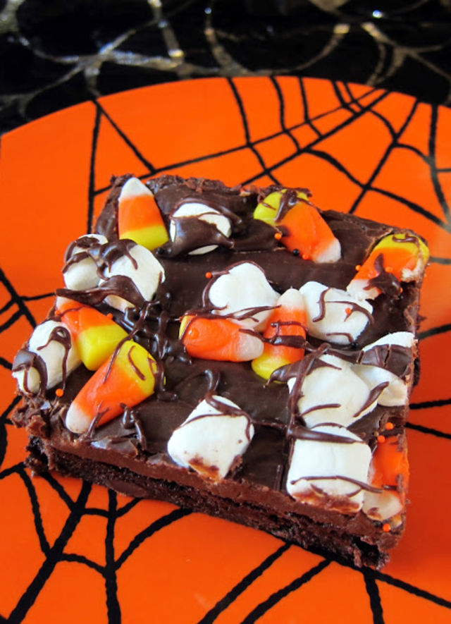 halloween Rocky Road Squares