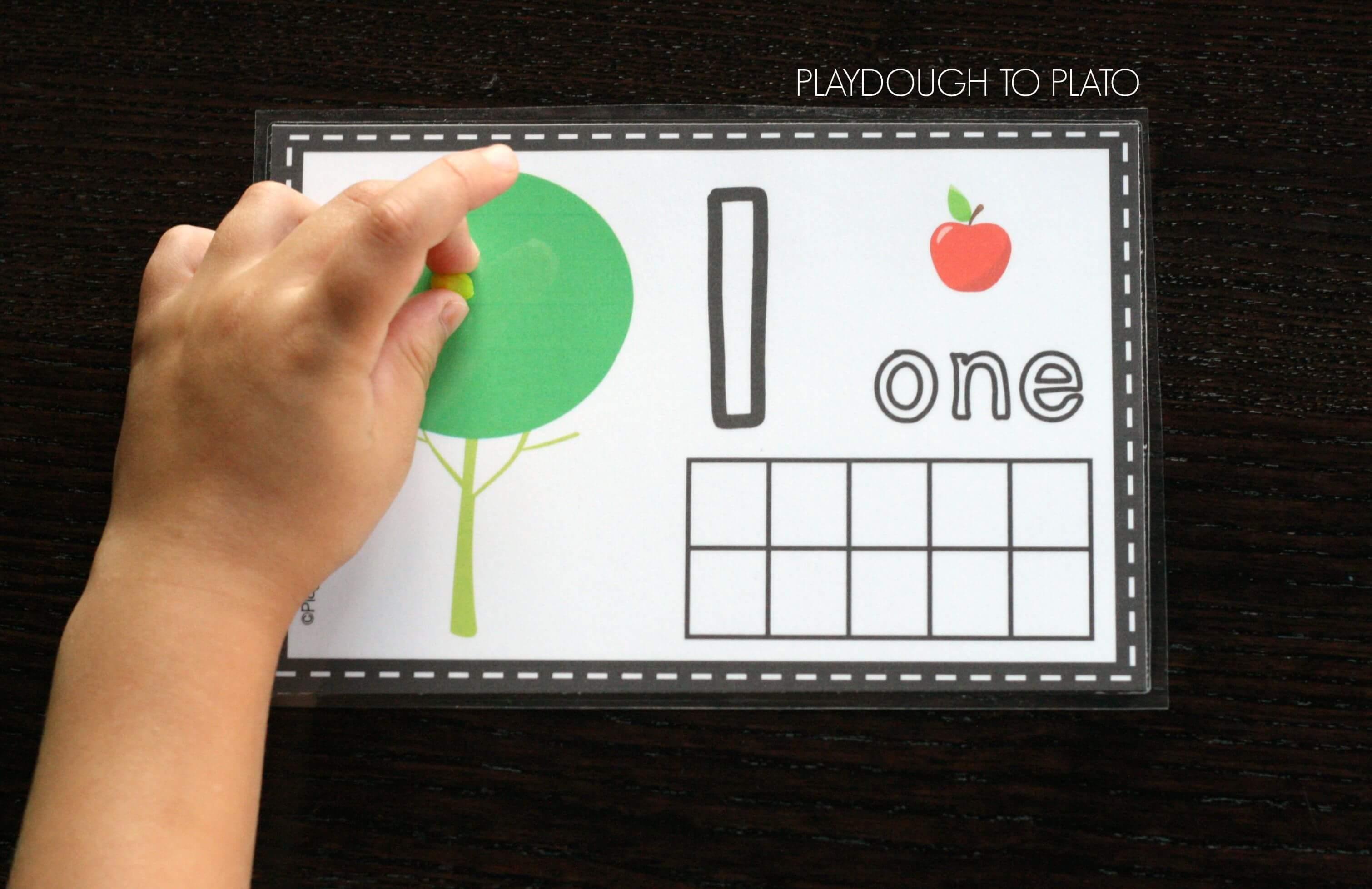 Free Apple Playdough Mats