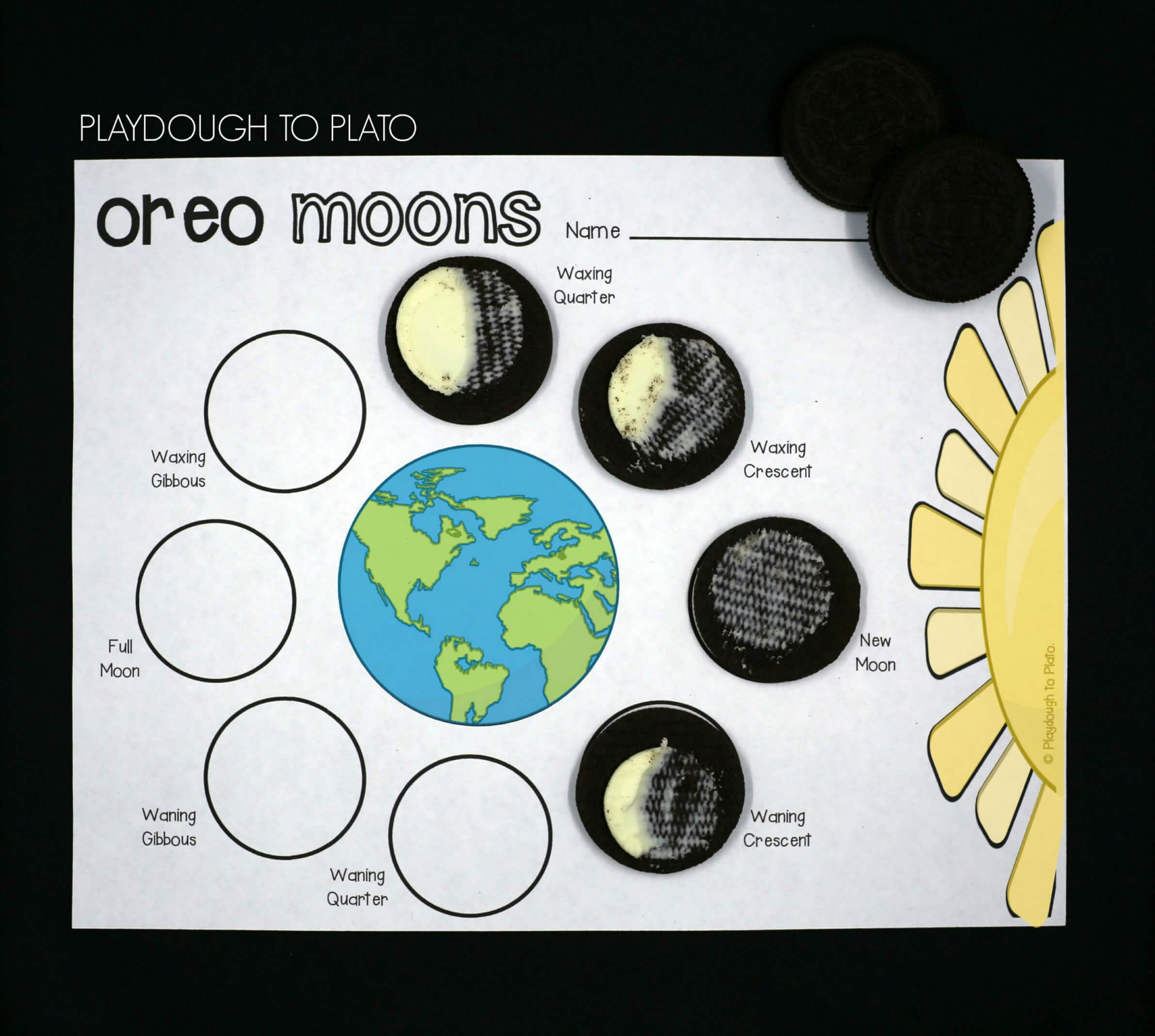 Phases Of The Moon Printable Worksheet
