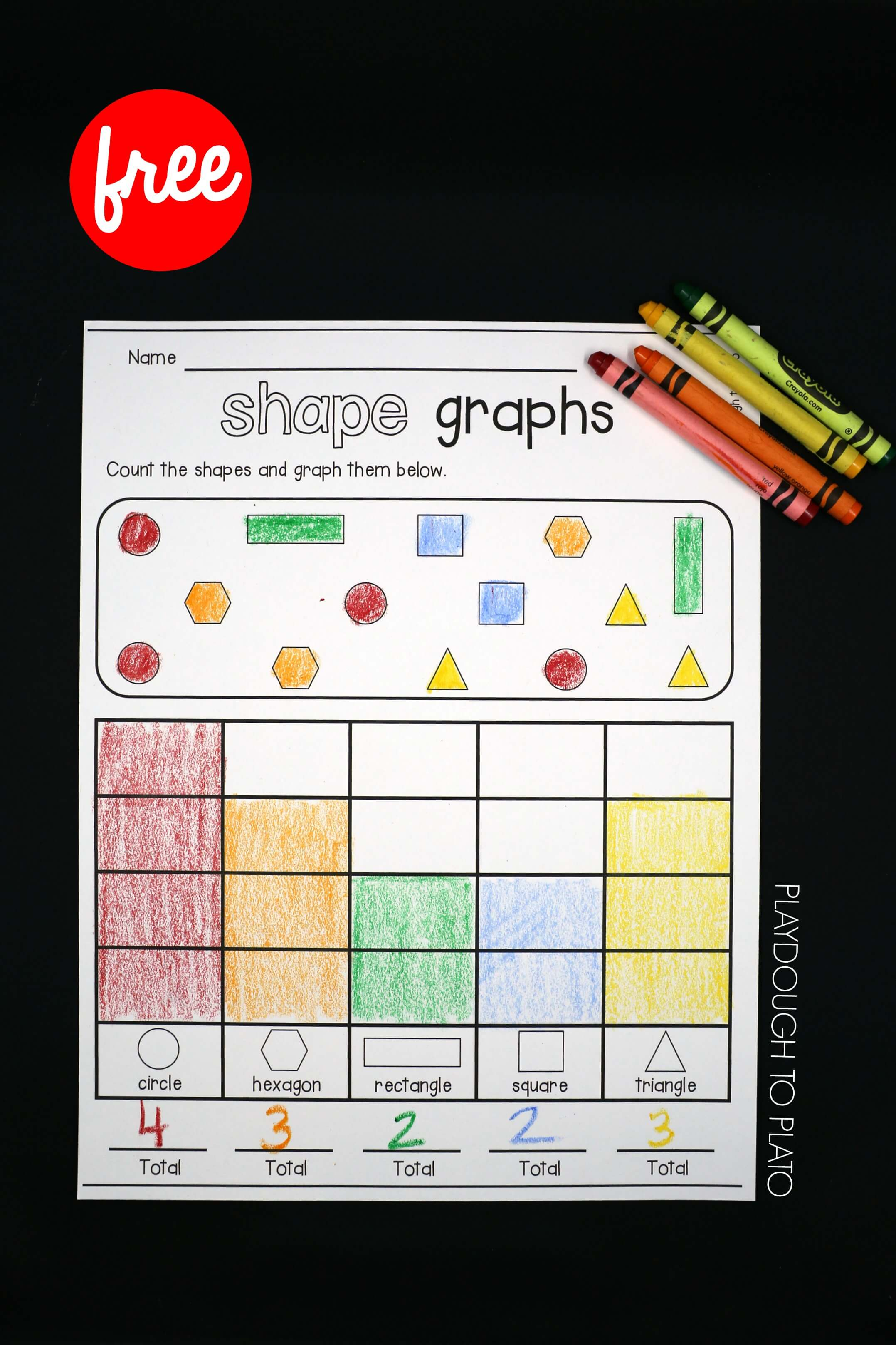 Kindergarten Bar Graph Worksheet Shapes