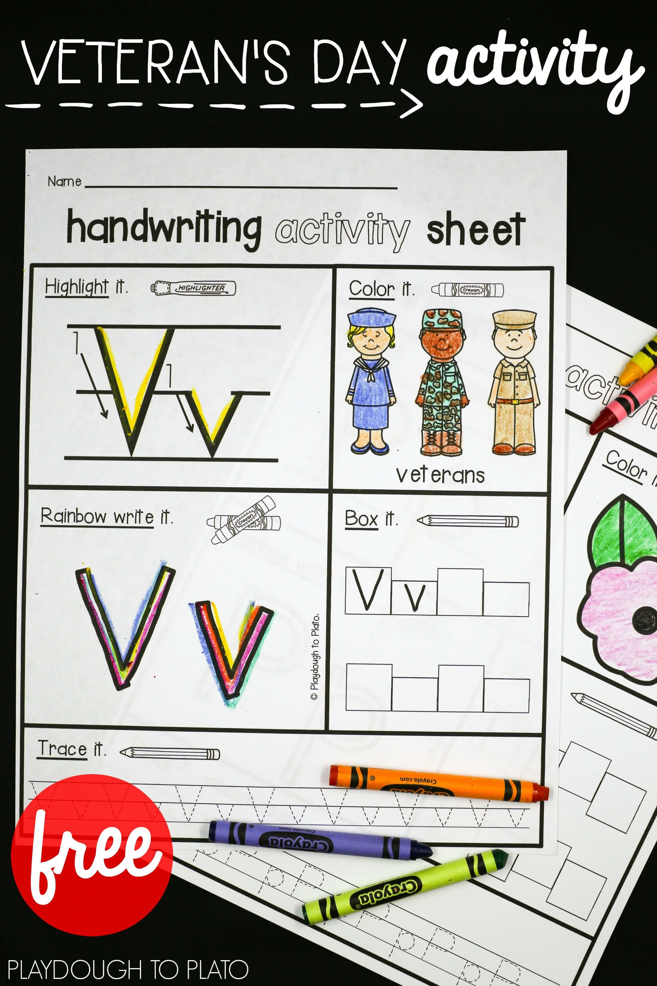 Veteran S Day Activity Sheets