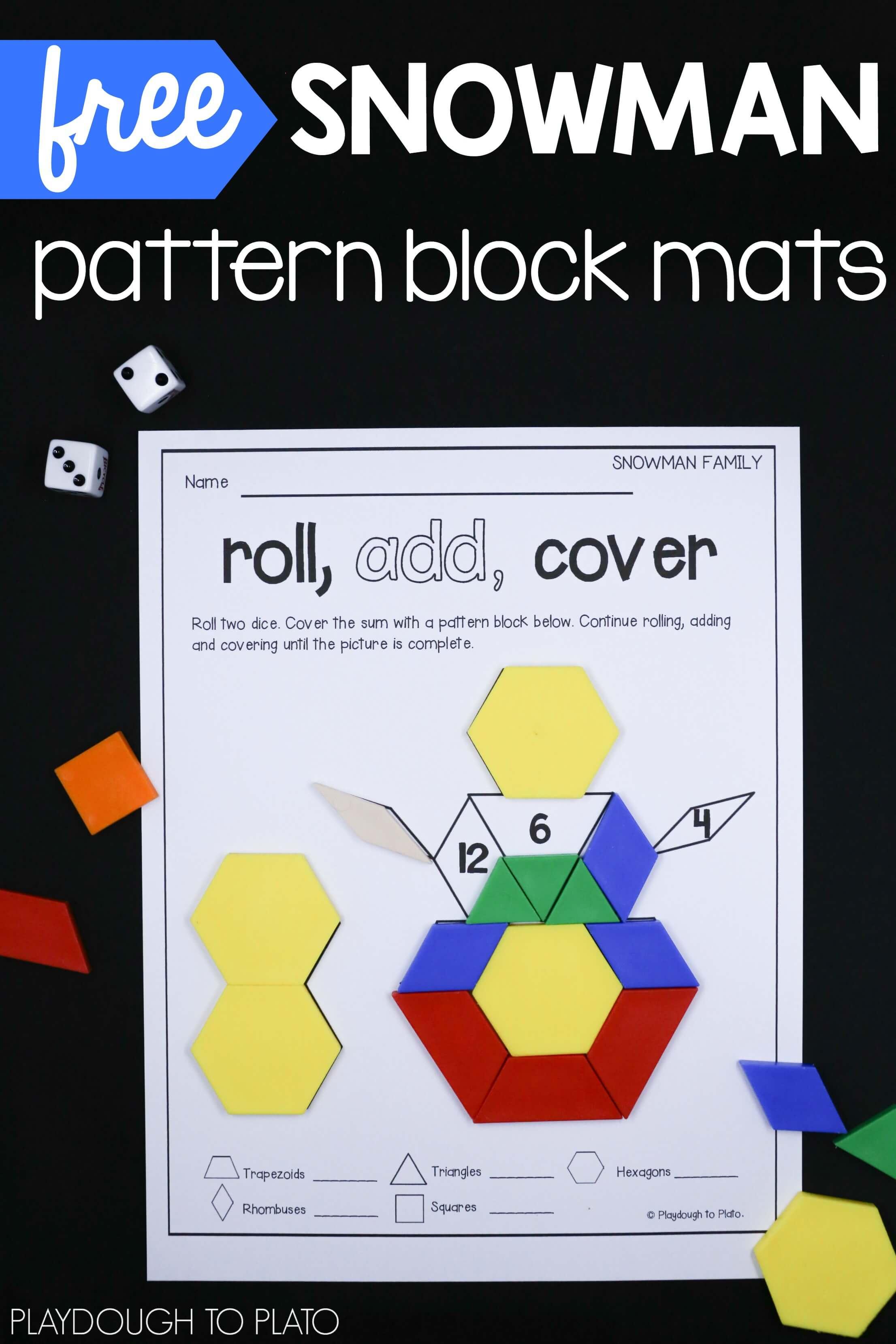 Snowman Pattern Block Mats