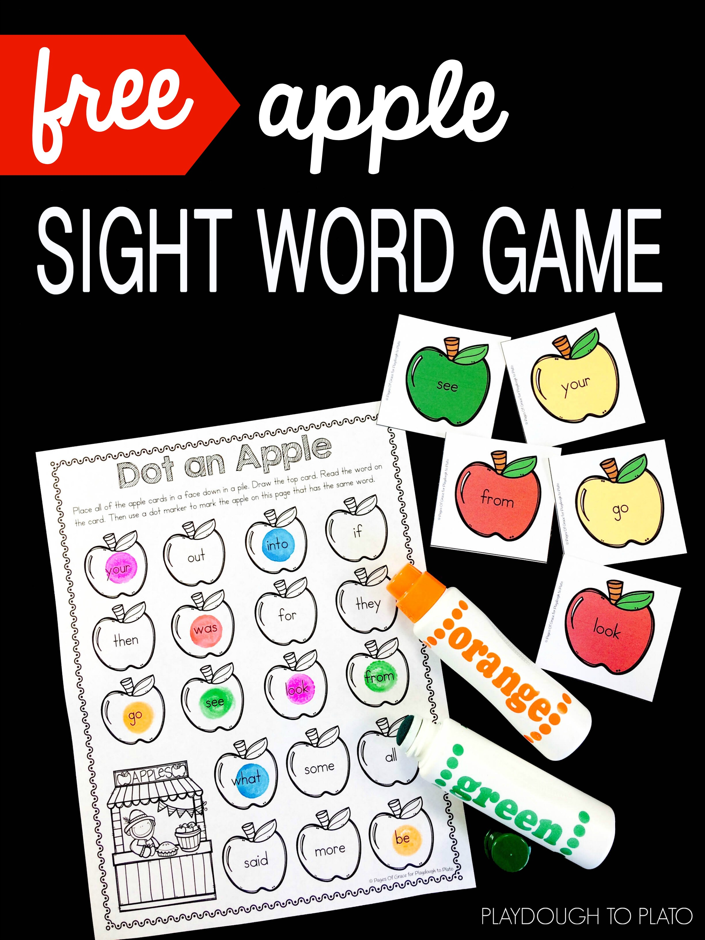 Apple Sight Word Game