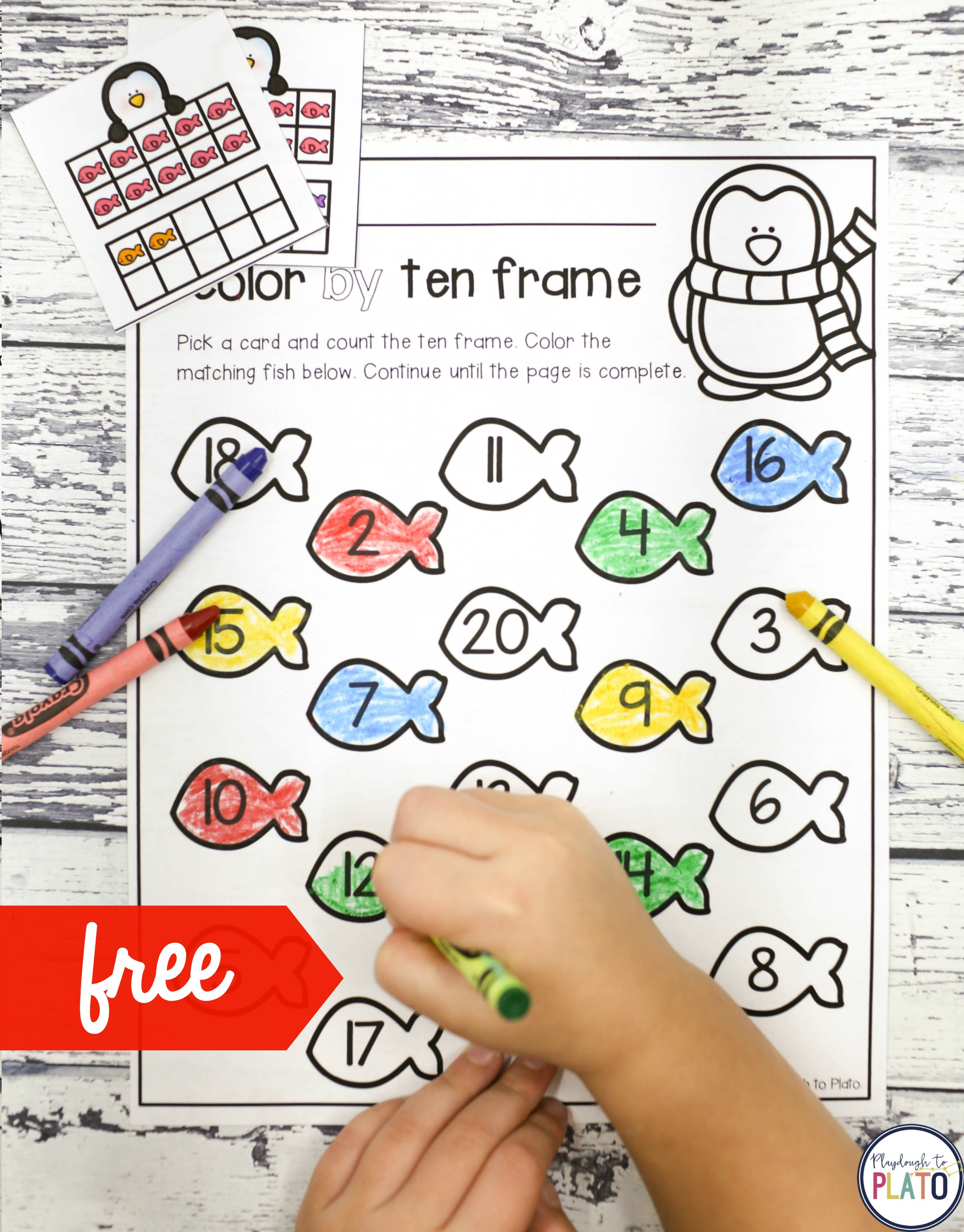 Color By Ten Frame