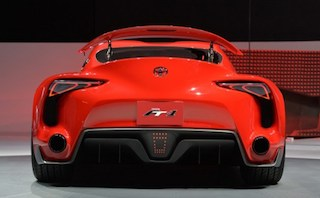 Toyota FT-1 concept car : the back