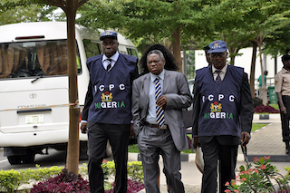 Iornem, middle, with ICPC operatives