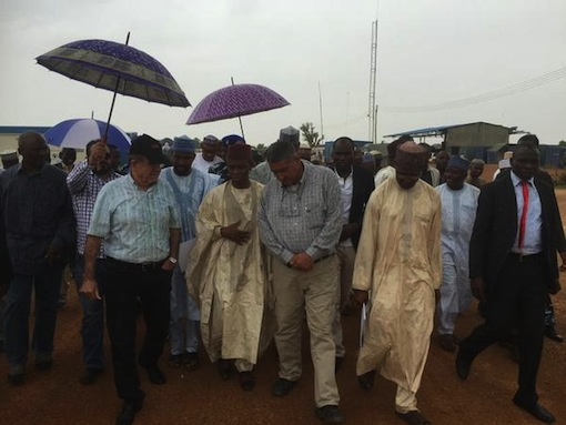 At the site of a behind-schedule Zaria Water Project