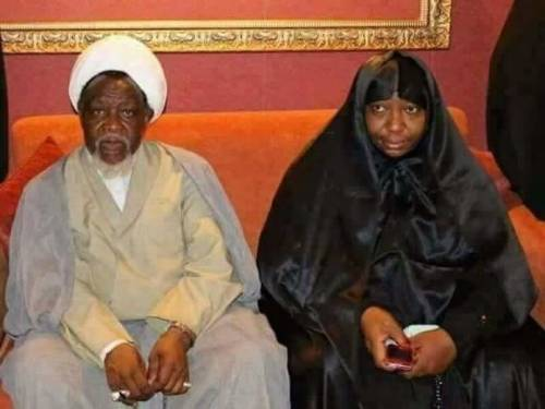 El-Zakzaky and wife Zeenah: detained by Buhari's govt since December 2015
