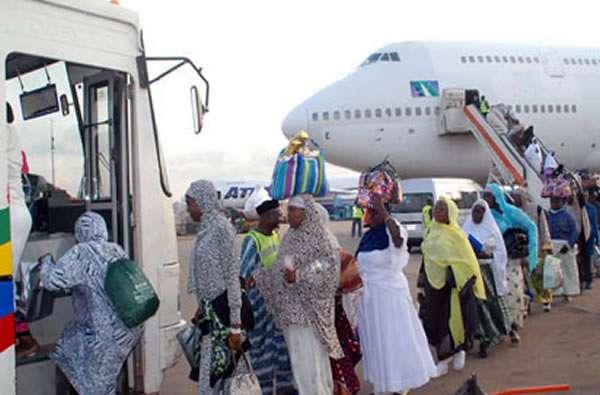 File: Nigerian Hajj pilgrims returning home