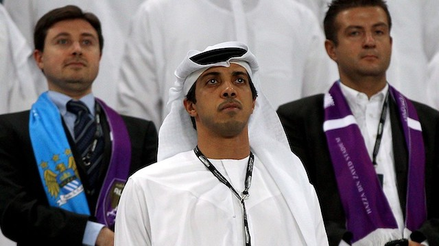 Sheikh Mansour, owner of Manchester City Football  Club