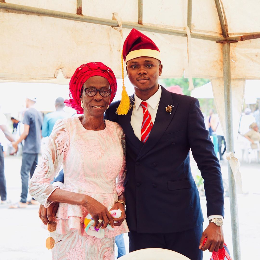 Darasimi and his mother on his convocation