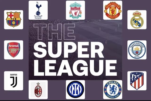 12 clubs in European Super League