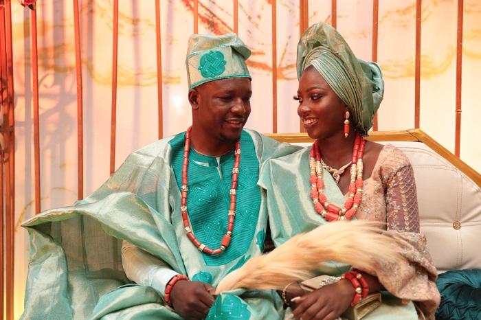 Oba Malaolu and his wife Feyisetan Sogbesan