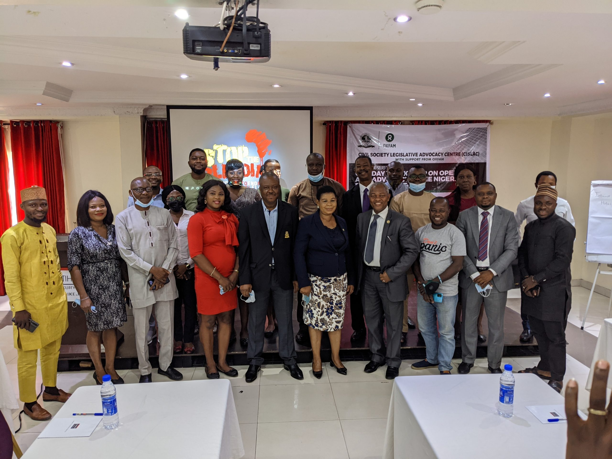 Stakeholders and CSOs at a multi-stakeholder workshop on Open Data organized by CISLAC