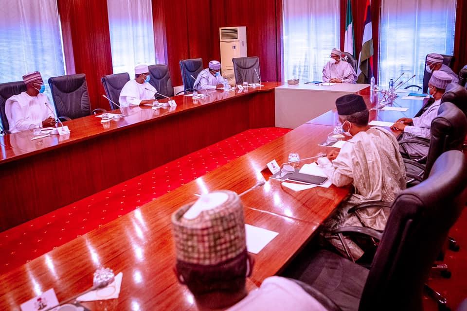 Buhari meets northern governors in Abuja