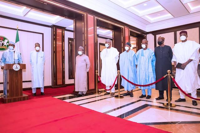 Deby, extreme left in Aso Rock