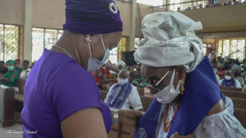 Madam Martha Ogbebor (right) and another church member as UNIBEN celebrates senior citizens