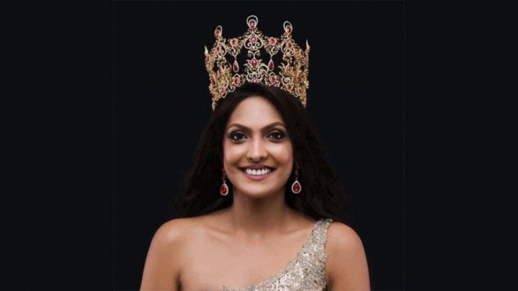 FILE PHOTO: Caroline Jurie, reigning Mrs. World gives up crown after pageant controversy.