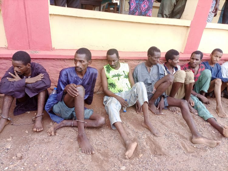 Kidnappers of OOU students, doctor, monarch paraded in Ogun