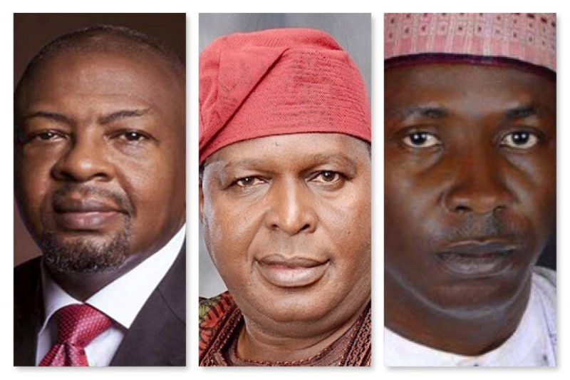 L-R Coker, Runsewe and Thomas, reappointed by Buhari