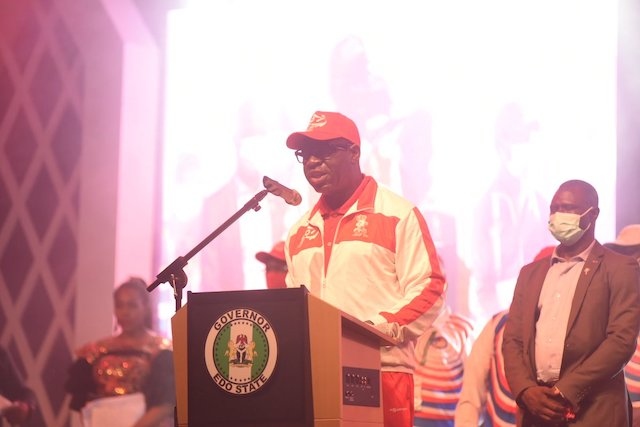 Obaseki delivers closing address at the Sports Festival