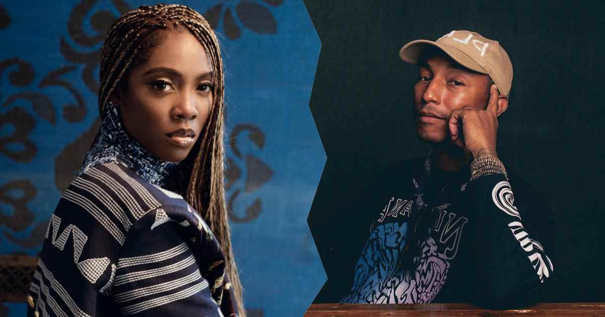 Pharrell Williams and Tiwa Savage