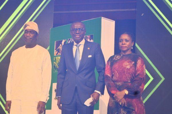 L-R: Dr. Kadri Hamzat, Sanwo-Olu and Olusanya at the event.