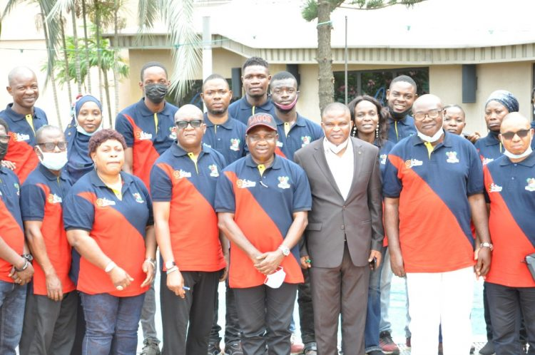 Omotoso and staff of Lagos Traffic Radio during the retreat
